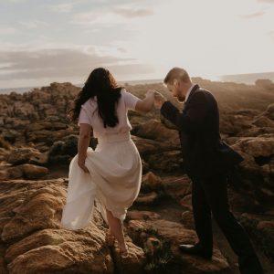 Yallingup elopement photographer Margaret River style wedding Dunsborough